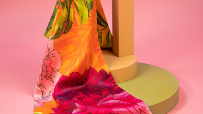 Limited Edition Tropical satin scarf from Powder