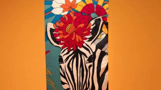 Zebra limited Edition satin scarf from Powder
