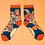 Thumbnail: Teal flower print bamboo ankle socks