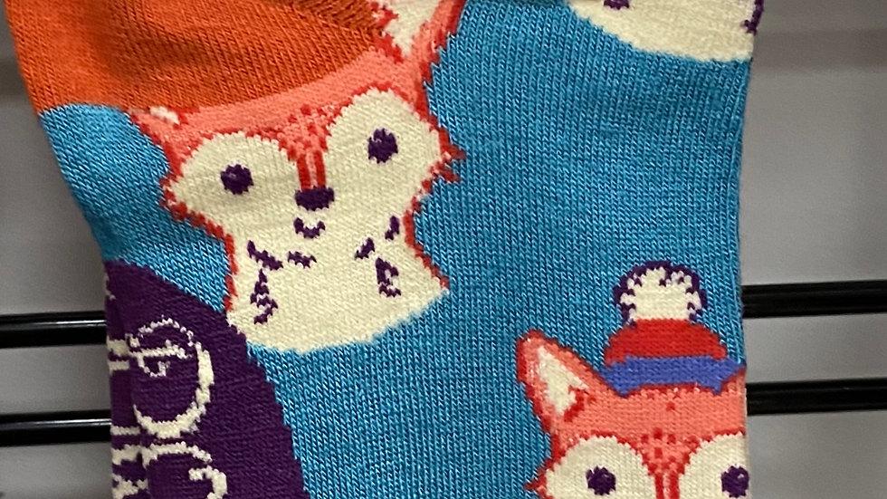 Bamboo trainer socks/fox