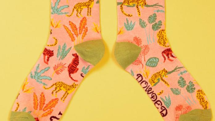 jungle print bamboo socks