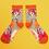 Thumbnail: Zebra print bamboo ankle sock