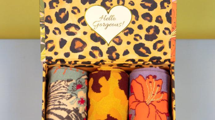 Bamboo Zebra sock gift box from Powder