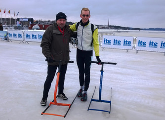 Kicksledding the Finland Ice Marathon