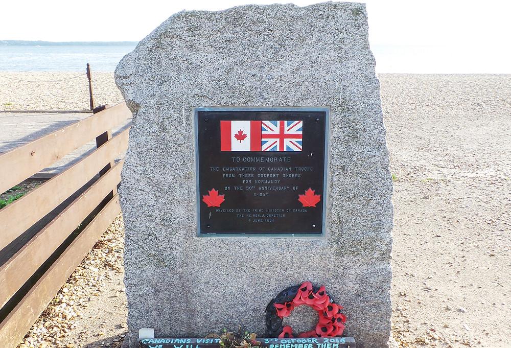 Canadian Memorial Stone, Stokes Bay, Gosport