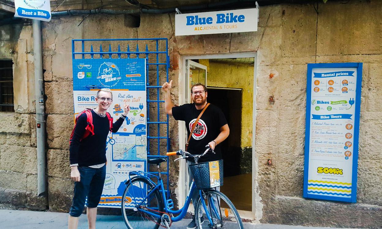 Hiring a bike from Blue Bike
