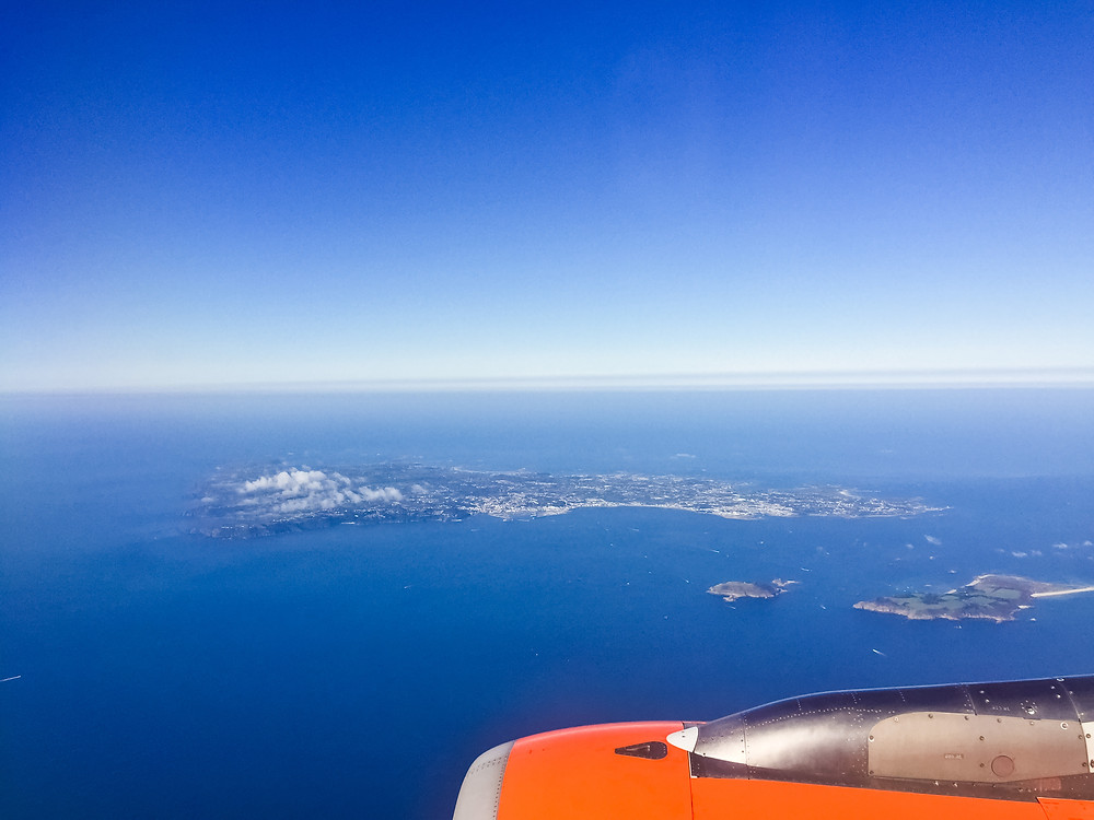 Flying over Guernsey