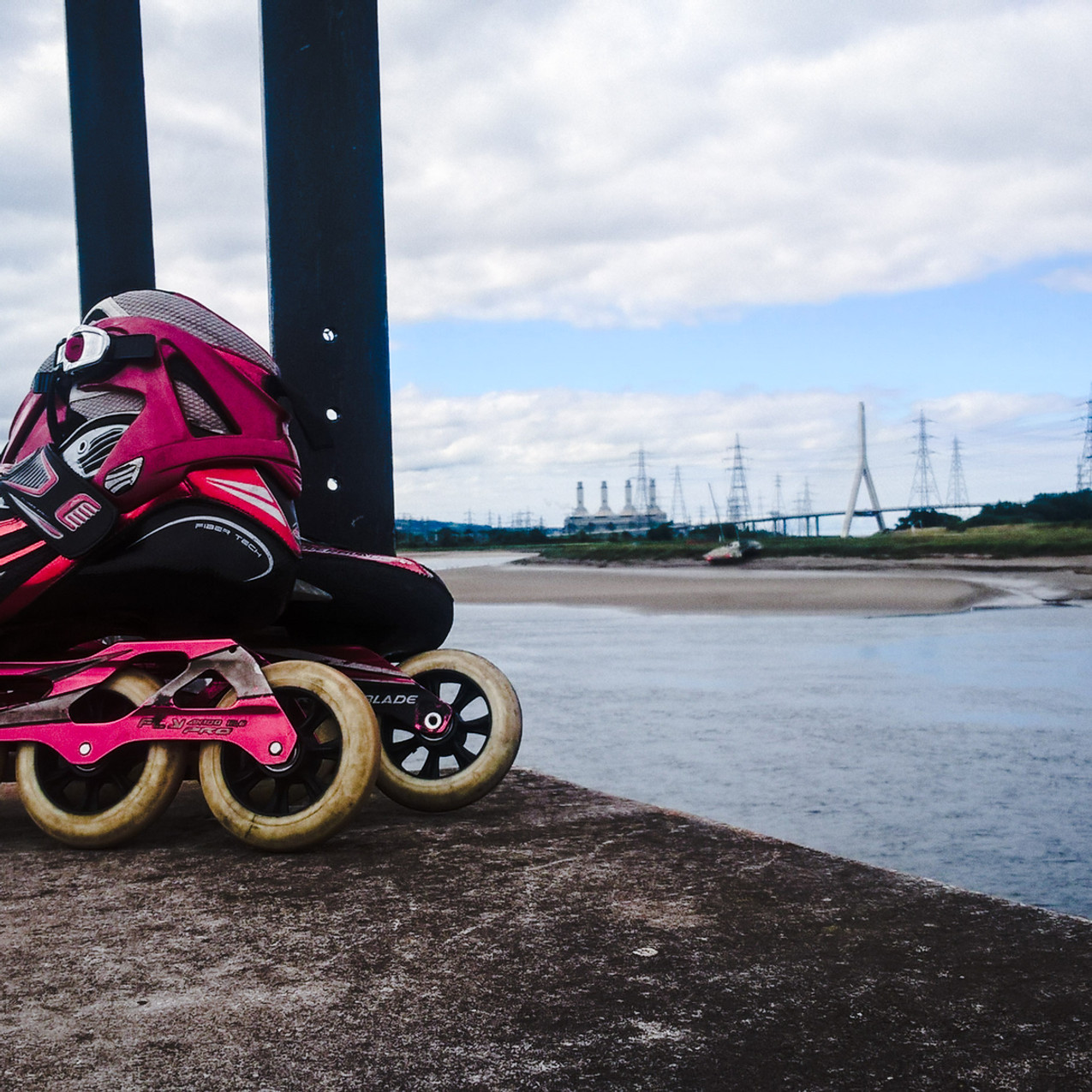 Rollerblades at Connah's Quay