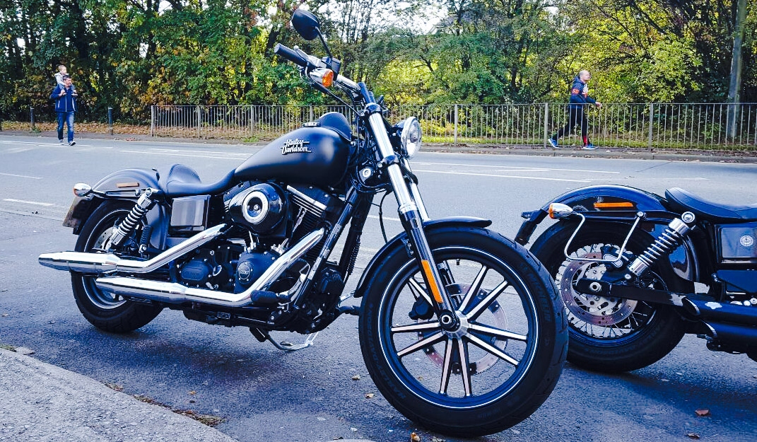 Harley-Davidsons on the A6