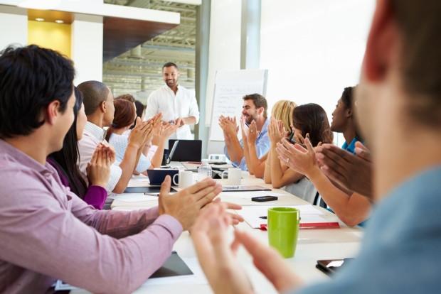 Reunião sobre apresentação de resultados