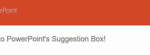 Caixa de Sugestões do PowerPoint