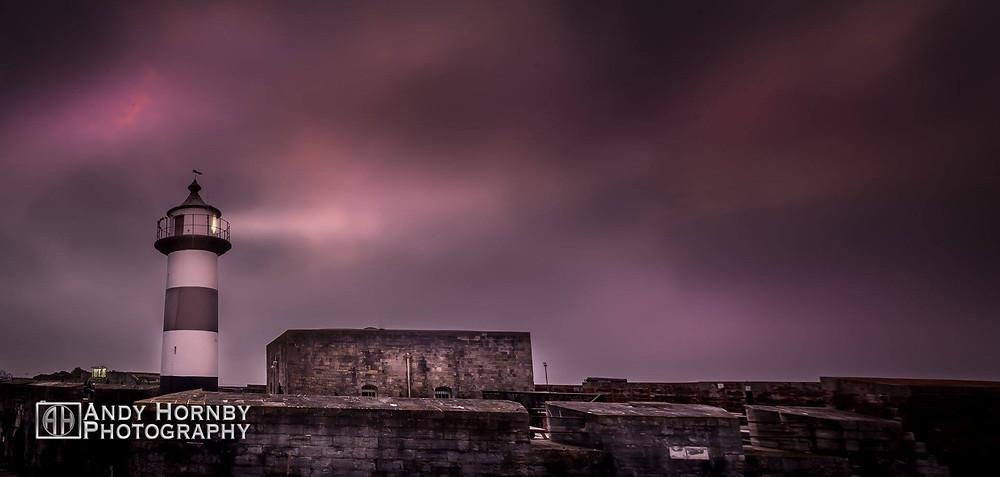 Southsea Castle stormy skies