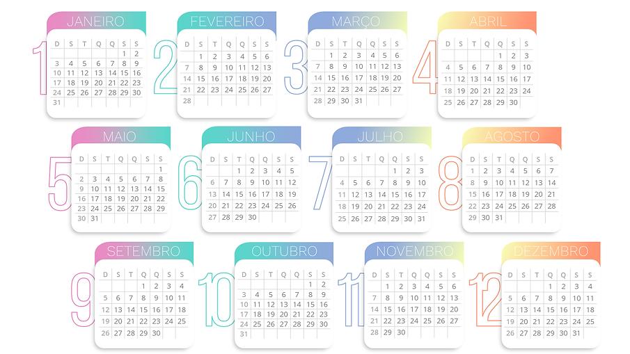 Calendário 2021 gráfico