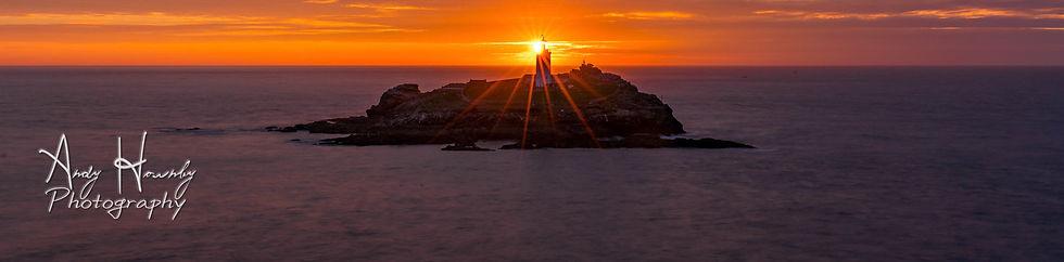 Godrevy Lighthouse at sunset