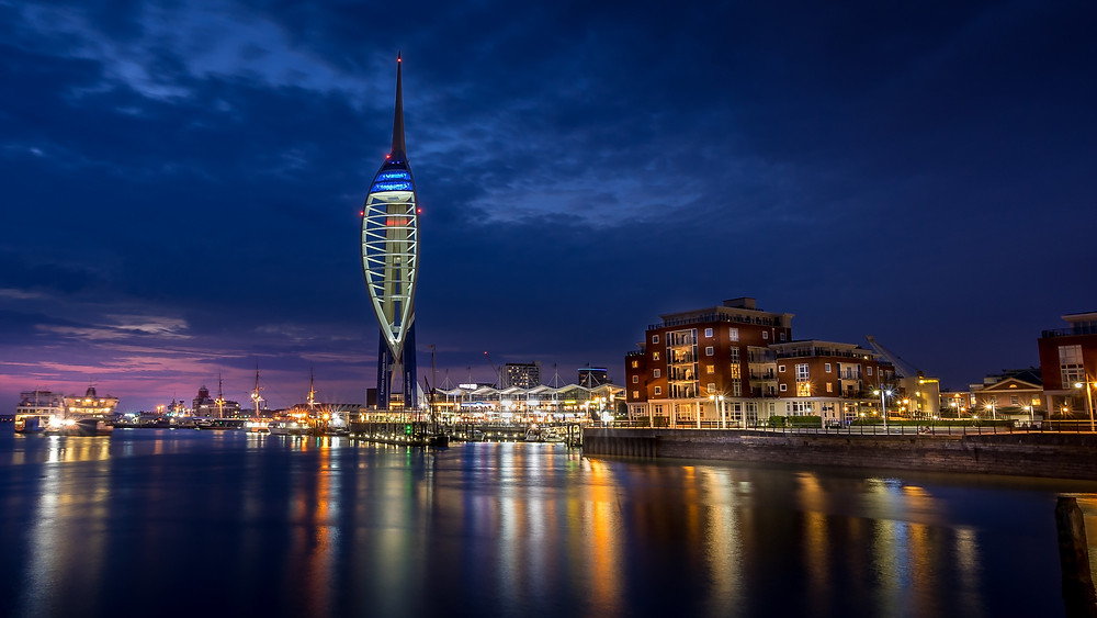 Spinnaker Tower are Blue Hour