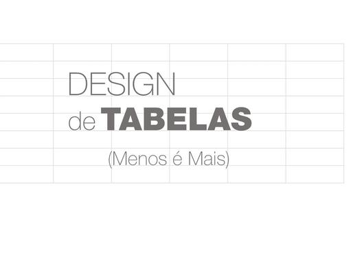 Design de Tabelas | Melhores Práticas