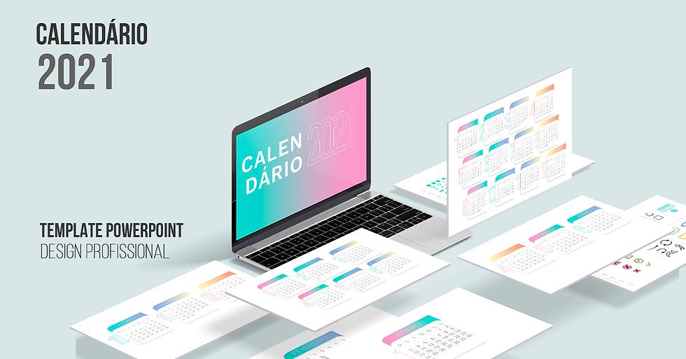 Calendario 2021 Template PowerPoint Design Profissional