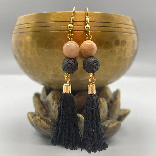 Sunstone Goddess Diffuser Earrings