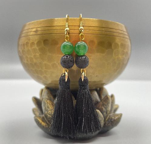 Aventurine Goddess Diffuser Earrings
