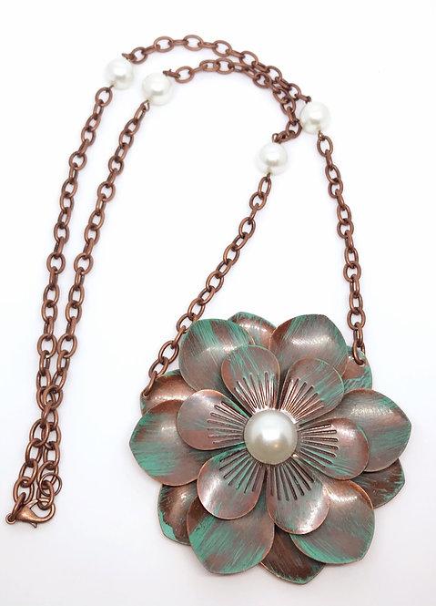 Copper Flower Nexklace