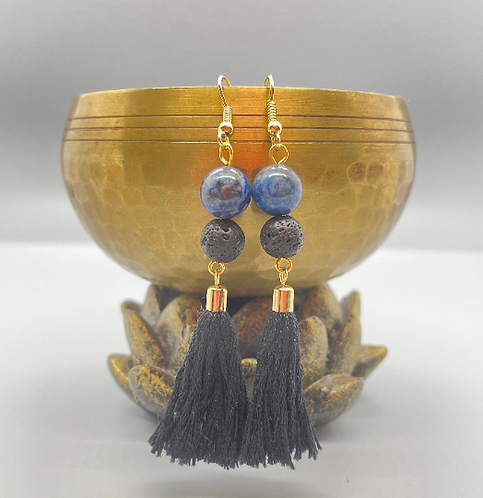 Sodalite Goddess Diffuser Earrings