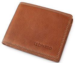 Leopardd RFID Geunine Leather Wallet