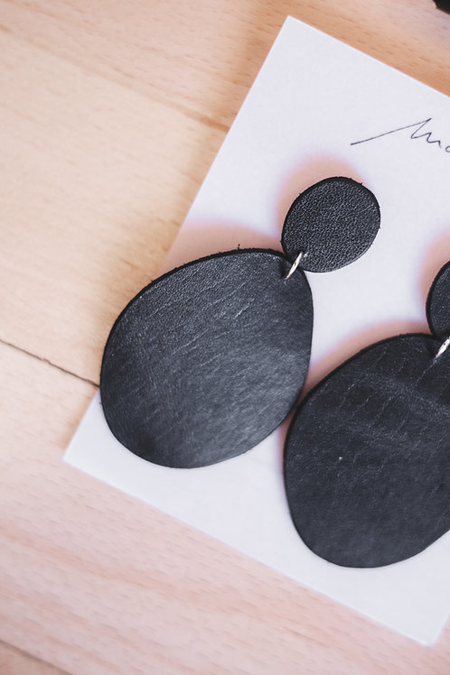Upcycled Leather Earrings 2
