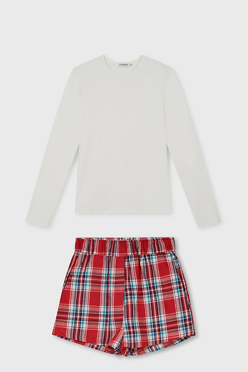 Nukka Pajamas Set: Longsleeve & Shorts