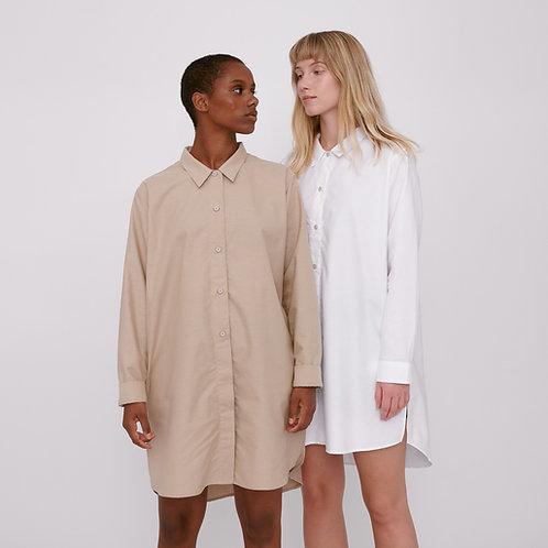 Organic Cotton Oxford Long Shirt