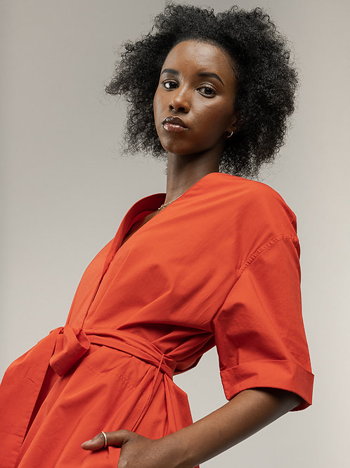 Midi Shirt Dress Kareena