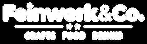 Logo FeinWerk&Co Einfach weiss auf trans