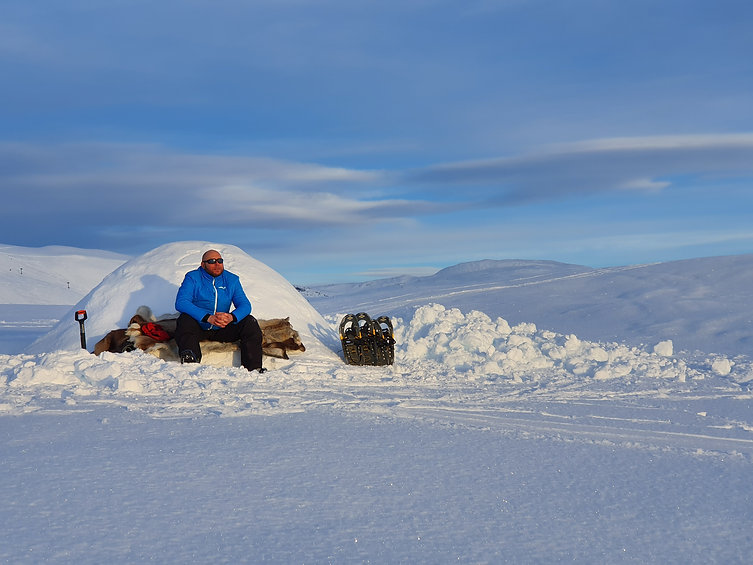 Iglo-fjell-mann