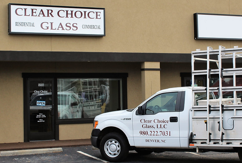 Clear Choice Glass  - truck and building