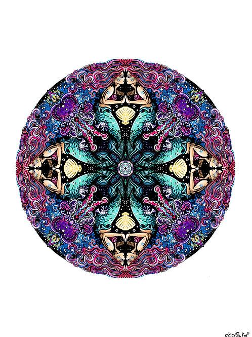 The Mermaid Mandala Print