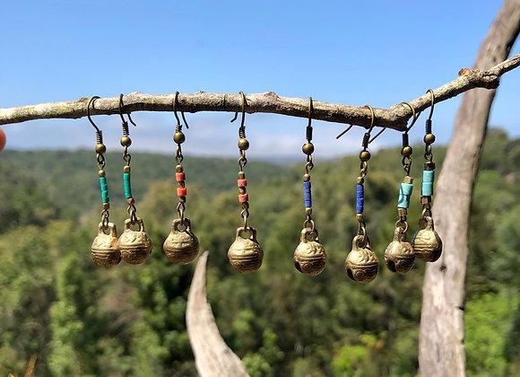 Tibetan Bells Earrings