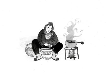Outdoor Kitchen Witch