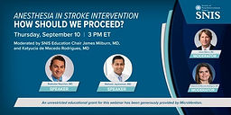 Anesthesia in Stroke Intervention, How Should We Proceed?