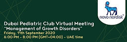 Dubai Pediatric Club Virtual Meeting on Management of Growth Disorders in Children
