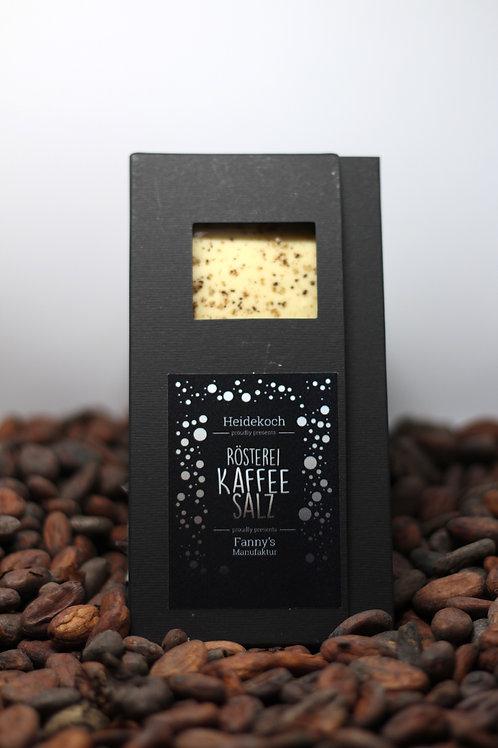 Weiße Kuvertüre 35%, Kaffeesalz 100g