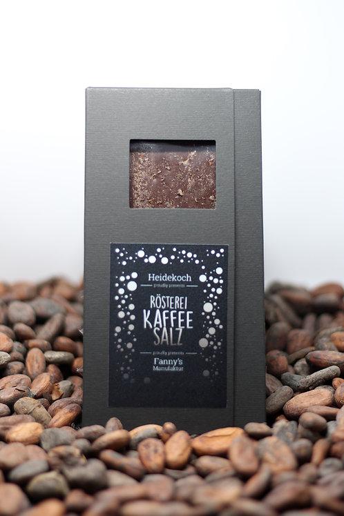 Dunkle Kuvertüre 70%, Kaffeesalz 100g