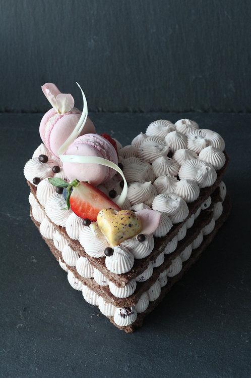 Torte Himbeerfrischkäse