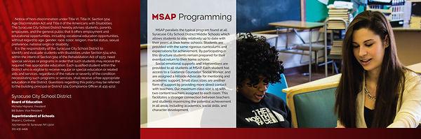 MSAP brochure design by Ivan Akimov
