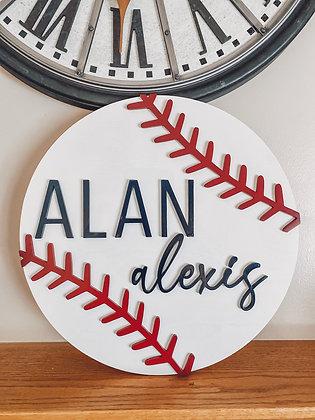 Baseball Name Round