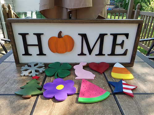 Interchangeable Home Sign