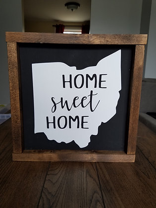 State Outline; Home Sweet Home