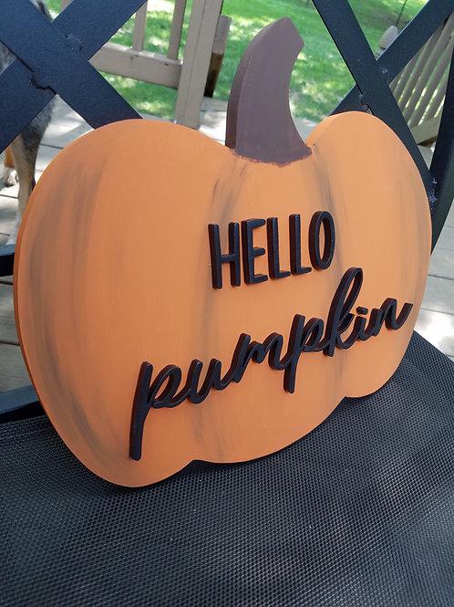 3D Hello Pumpkin