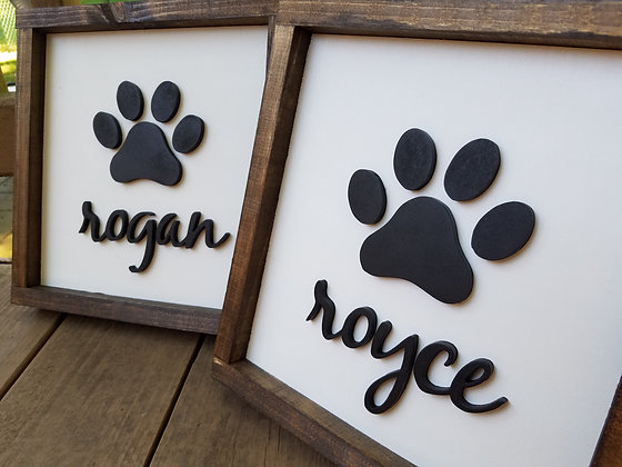 Pet Name with Paw Print