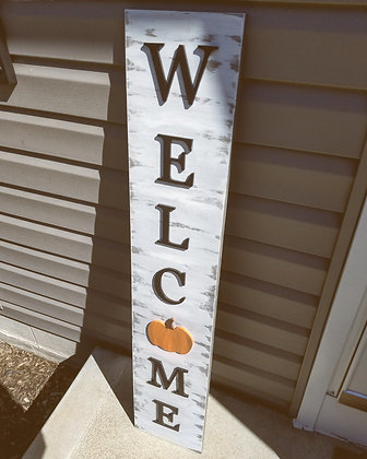 3D Welcome with Pumpkin