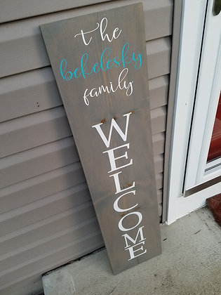 Last Name Welcome Sign