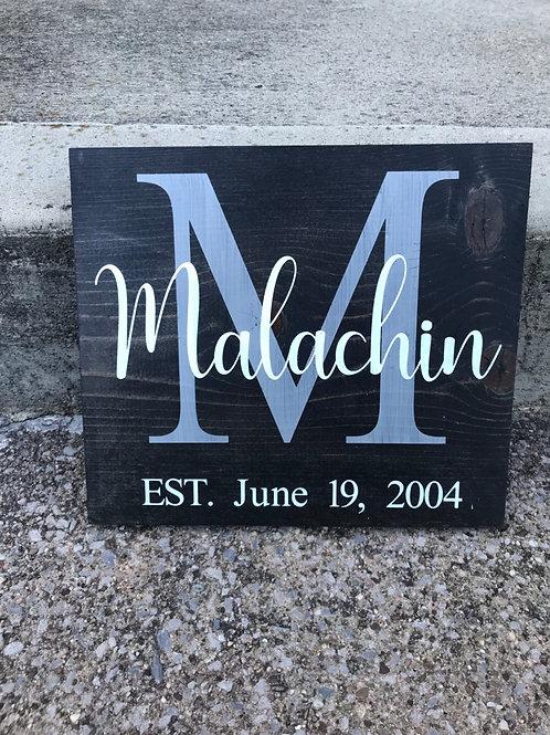 Last Name Established Sign